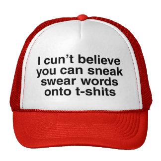 Swear words mesh hats