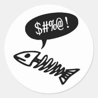 Swearing Fish - Funny Dead Fish Classic Round Sticker