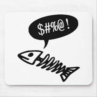 Swearing Fish - Funny Dead Fish Mouse Pad