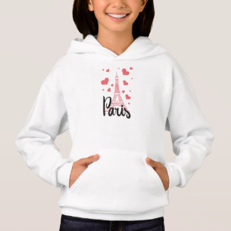 Sweat A Hood Paris Girl Hoodie