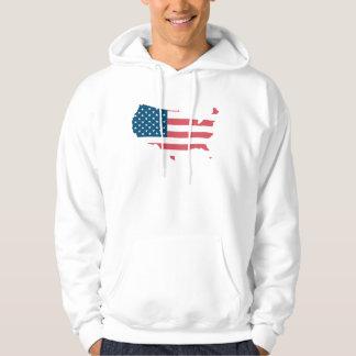Sweat A Hood White Man the USA Hoodie
