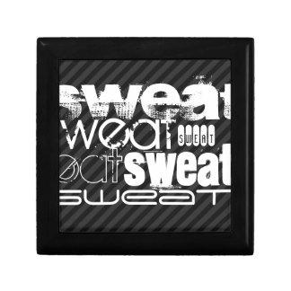 Sweat; Black & Dark Gray Stripes Gift Box