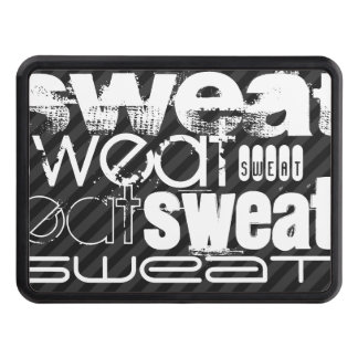 Sweat; Black & Dark Gray Stripes Tow Hitch Covers