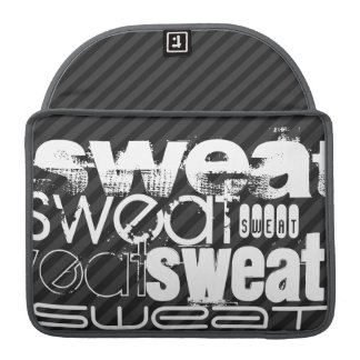 Sweat; Black & Dark Gray Stripes Sleeve For MacBook Pro