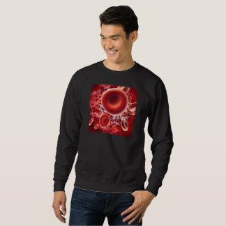 sweat black + printed red globules sweatshirt