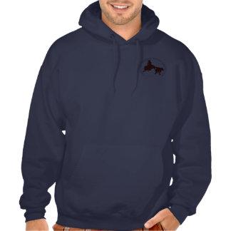 Sweat  Cabernet CHA Bleu Capuche Bordeaux Sweatshirt