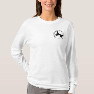 Sweat Cabernet CHA Femme Blanc Capuche Noir T-Shirt