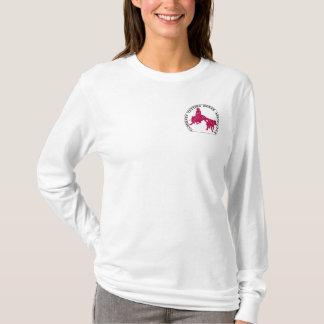Sweat Cabernet CHA Femme Bleu Capuche Rose T-Shirt