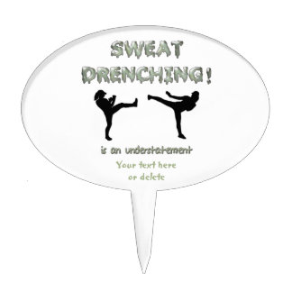 Sweat Drenching Kickboxing! is an understatement Cake Topper