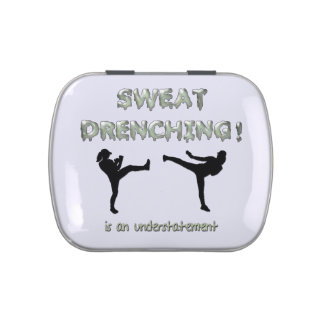Sweat Drenching Kickboxing! is an understatement Candy Tins