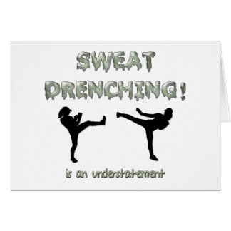 Sweat Drenching Kickboxing! is an understatement Card