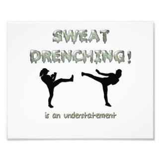 Sweat Drenching Kickboxing! is an understatement Photo Art