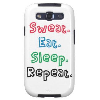 Sweat. Eat. Sleep. Repeat. Galaxy SIII Cases