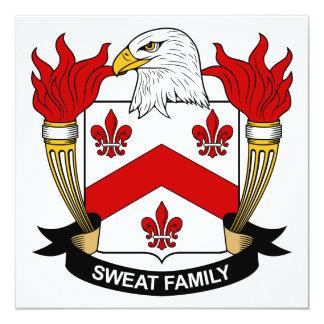 Sweat Family Crest 5.25x5.25 Square Paper Invitation Card
