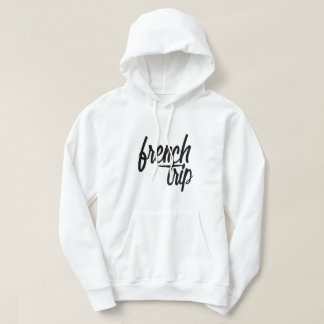 Sweat French white Trip Hoodie