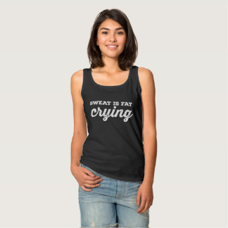 Sweat Is Fat Crying dark t-shirt
