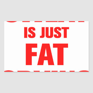 sweat-is-just-fat-crying-ak-red.png rectangular sticker