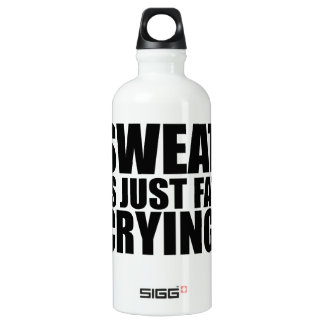 Sweat Is Just Fat Crying Gym Humor Water Bottle