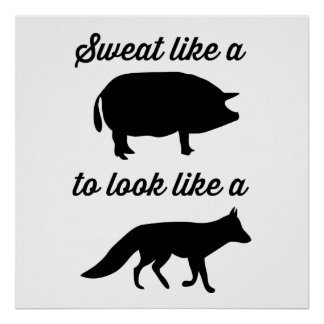 Sweat Like a Pig to Look Like a Fox Poster