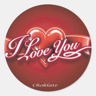 sweat love classic round sticker