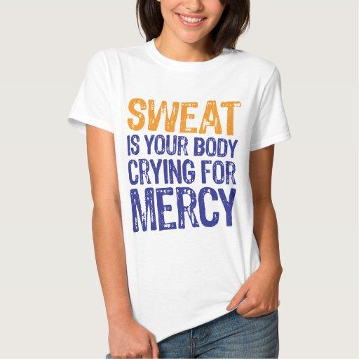 Sweat Mercy Orange Blue Tee Shirt