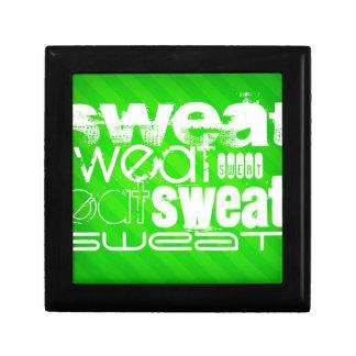 Sweat; Neon Green Stripes Keepsake Boxes