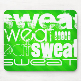 Sweat; Neon Green Stripes Mouse Pad