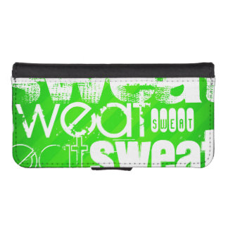 Sweat; Neon Green Stripes Phone Wallet Cases