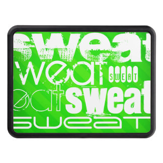 Sweat; Neon Green Stripes Hitch Cover