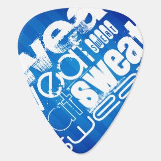 Sweat; Royal Blue Stripes Guitar Pick
