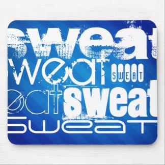 Sweat; Royal Blue Stripes Mouse Pad