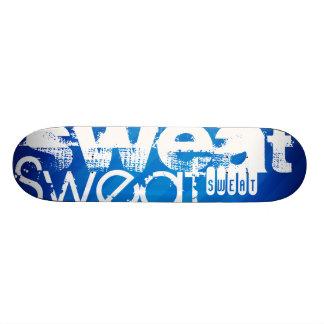 Sweat; Royal Blue Stripes Skateboard Deck