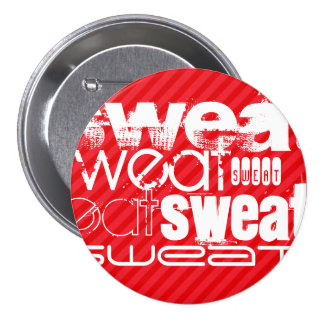 Sweat; Scarlet Red Stripes Button