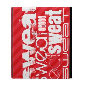 Sweat; Scarlet Red Stripes iPad Folio Covers