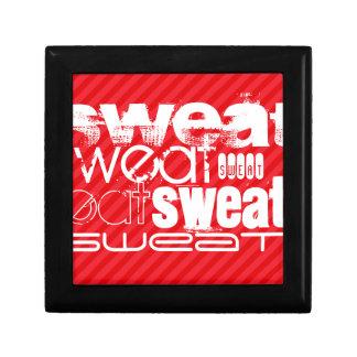 Sweat; Scarlet Red Stripes Trinket Box