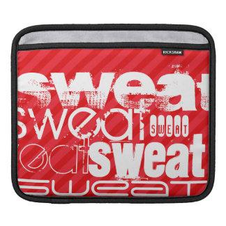 Sweat; Scarlet Red Stripes iPad Sleeve