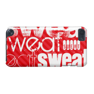 Sweat; Scarlet Red Stripes iPod Touch (5th Generation) Case