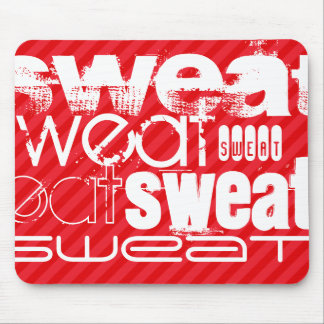 Sweat; Scarlet Red Stripes Mouse Pad