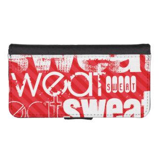 Sweat; Scarlet Red Stripes Phone Wallet