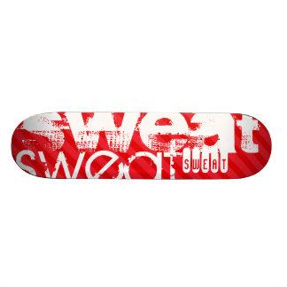 Sweat; Scarlet Red Stripes Skateboard Deck