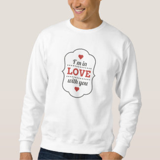 Sweat White Man Holy BASIC Valentine Sweatshirt