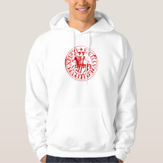 sweat white seal of the temple hoodie