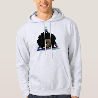 Sweat with afro hood hipster hoodie