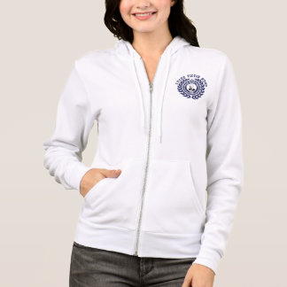 Sweat with closing Woman White LVH blue logo Hoodie
