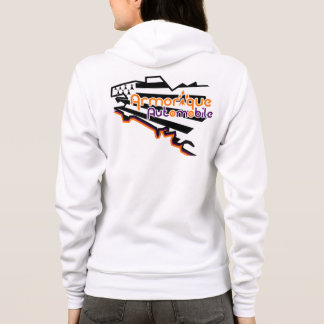 Sweat with hood automobile armoric woman hoodie