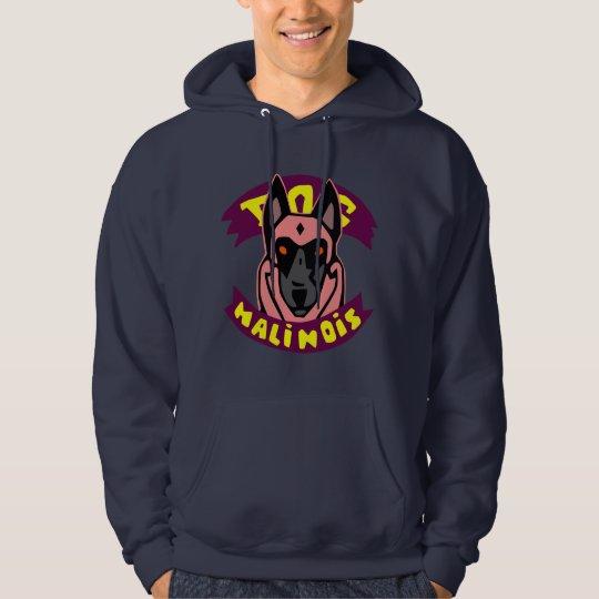 sweat with hood dog malinois hoodie