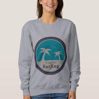 Sweat Woman White BASIC Surfing Sweatshirt