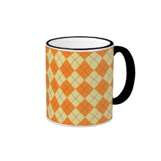 Sweater Background Ringer Coffee Mug