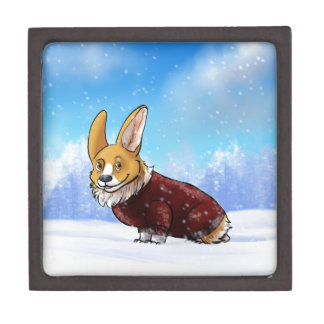 sweater corgi 2 keepsake box