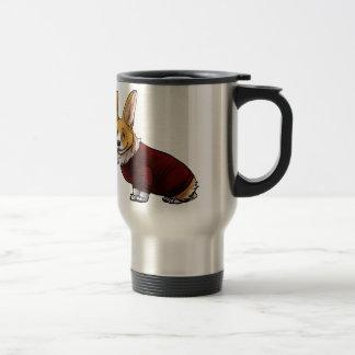 sweater corgi travel mug